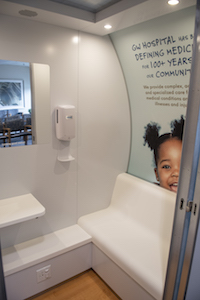 Mamava lactation suite interior