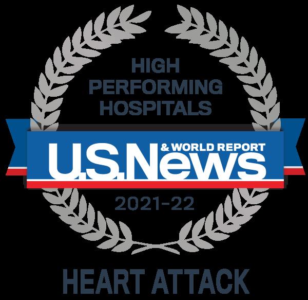 Premio al Hospital de Alto Rendimiento de US News - Ataque cardíaco