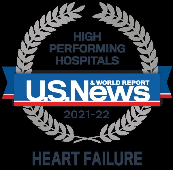 Insignia del premio de hospitales de alto rendimiento de US News: insuficiencia cardíaca