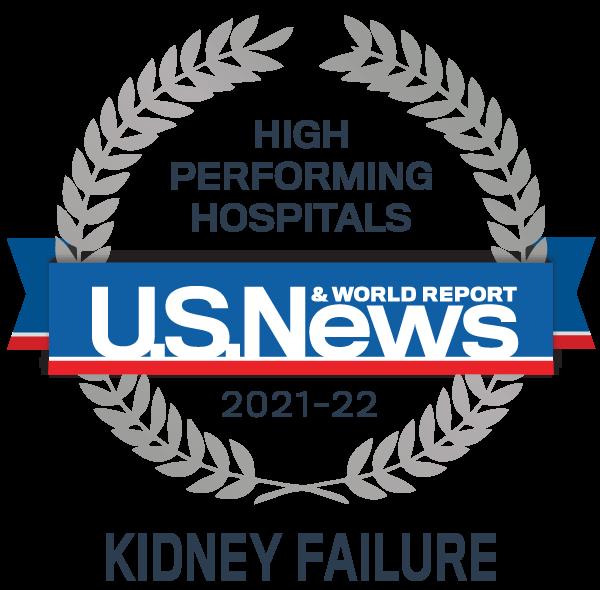 Insignia del premio de hospitales de alto rendimiento de US News: insuficiencia renal