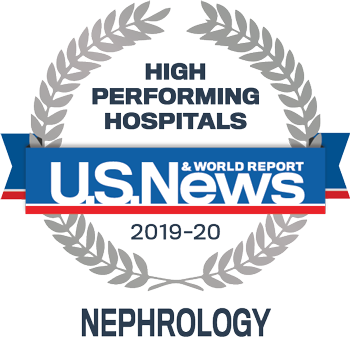 US News and world report high performing hospitals nephrology