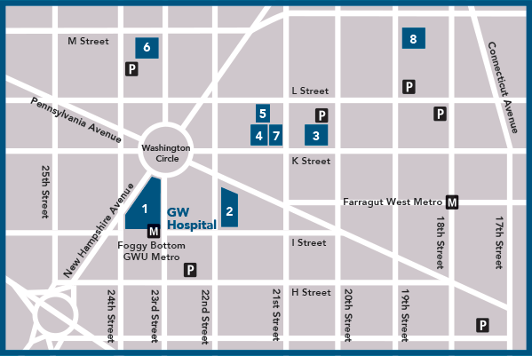 George Washington University Hospital Map
