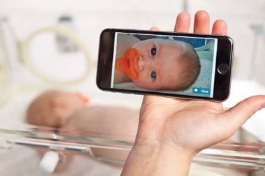 GW Health News Special arrival: New camera technology helps keep parents and newborns close