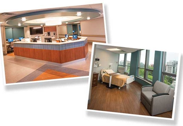 New hospital room and nurse station photos