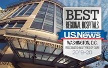 GW Hospital calificado como uno de los mejores hospitales de la región porU.S. News and World Report