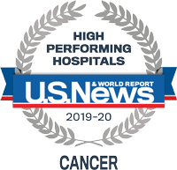 US News High Performing Hospital for Cancer